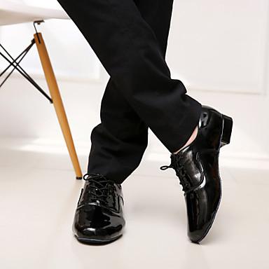 povoljno SUN LISA-Muškarci Mikrovlakana Moderna obuća / Standardni Vezanje Štikle Niska potpetica Nemoguće personalizirati Crna / Bijela / EU43
