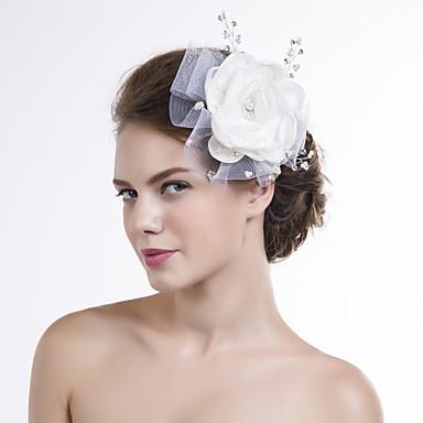 organza net fleurs headpiece noce élégant style féminin