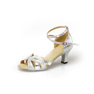 Damen Schuhe für den lateinamerikanischen Tanz / Ballsaal Kunstleder Stöckelschuhe Innen / Professionell / Anfänger Schnalle Stöckelabsatz