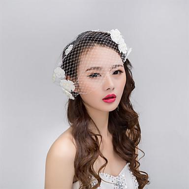 Γυναικείο Ύφασμα Headpiece-Γάμος Ειδική Περίσταση Λουλούδια Βέλα κλουβιού πουλιών 1 Τεμάχιο
