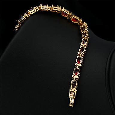 Kadın's Zincir & Halka Bileklikler Vintage Sevimli Parti İş Günlük Moda Bağlantı / Zincir Değerli Taş ve Kristal Kübik Zirconia Altın