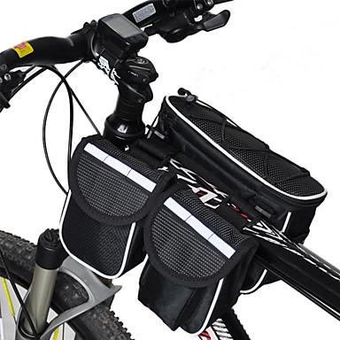 Acacia Bisiklet Çantası <10L Bisiklet Çerçeve Çantaları Yağmur-Geçirmez Çok Fonksiyonlu Bisikletçi Çantası 600D Ripstop Bisiklet Çantası