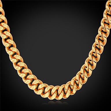 Men's Shape Fashion Choker Necklace Chain Necklace Collar Necklace Gold Plated Alloy Choker Necklace Chain Necklace Collar Necklace