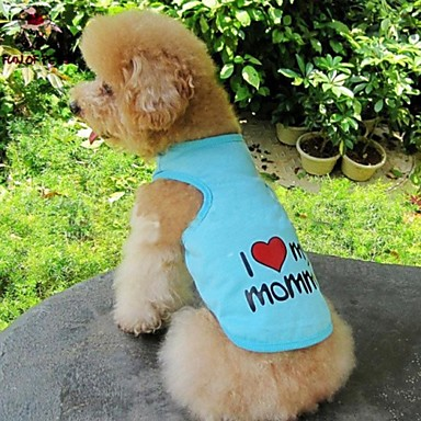 Kat Hund Trøye/T-skjorte Hundeklær Hjerte Bokstav & Nummer Oransje Grå Blå Rosa Bomull Kostume For kjæledyr Cosplay Bryllup