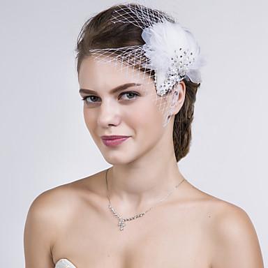 φτερό καθαρό λουλούδια headpiece γάμο κόμμα κομψό θηλυκό στυλ