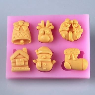 Weihnachten Artikel Fondantkuchen Schokoladensilikonform, Fondant-Kuchen Schokoladensilikonform, Dekorationswerkzeuge Backformen