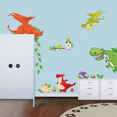 τοίχο αυτοκόλλητα τοίχου στυλ αυτοκόλλητα νέο ζωολογικό κήπο δεινόσαυρος αυτοκόλλητα PVC τοίχο