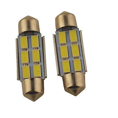 رخيصةأون مصابيح أضواء السيارة الداخلية-2pcs 36mm / 39mm سيارة لمبات الضوء 1.2 W SMD 5630 140 lm 6 ضوء القراءة من أجل