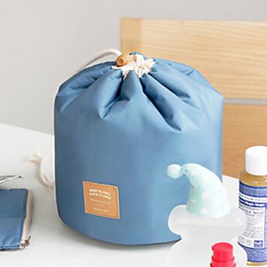 Women's Bags Nylon Cosmetic Bag Zipper for Casual All Seasons Blue Pink