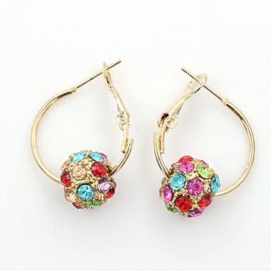 Pentru femei Cercei Picătură Cristal Modă European Ștras Placat Auriu Cristal Austriac 18K de aur Diamante Artificiale Bijuterii Costum