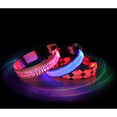 Γάτα Σκύλος Κολάρα Φώτα LED Αδιάβροχη Νάιλον Κόκκινο Μπλε Ροζ