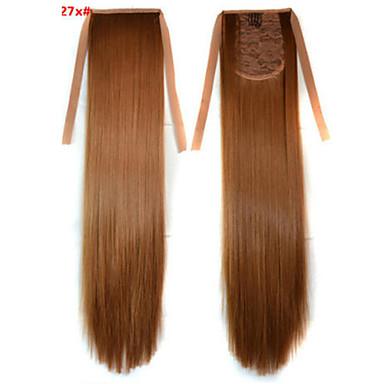 Pferdeschwanz Synthetische Haare Haarstück Haar-Verlängerung Glatt / Gerade