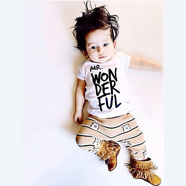 Boy's Summer Inelastic Thin Short Sleeve Clothing Sets (Cotton Blends)