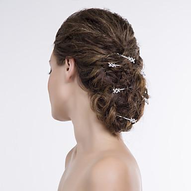 alaşım saç pimi baş parçası düğün partisi zarif klasik kadınsı stil