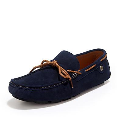 Ανδρικά υποδήματα Παπούτσια Ναυτικό Στυλ Καθημερινά Δέρμα Μπλε / Κόκκινο / Γκρι