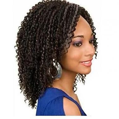 kadınlar için% 100 Brezilyalı bakire insan saçı u parçası peruk peruk kıvırcık bebek saç dantel ön müstehcen 10-30inch stokta