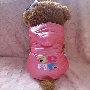 Kutya Kapucnis felsőrész Kutyaruházat Bíbor Rózsaszín Háziállatok számára