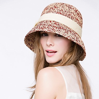 Women's Basketwork Headpiece-Casual / Outdoor Hats 1 Piece Head circumference Adjustable(53-58cm)