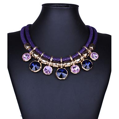 Kadın's Mücevher şekil Vintage Festival / Tatil İfade Takıları Moda Açıklama Kolye Sentetik Taşlar Kristal Açıklama Kolye Parti Özel