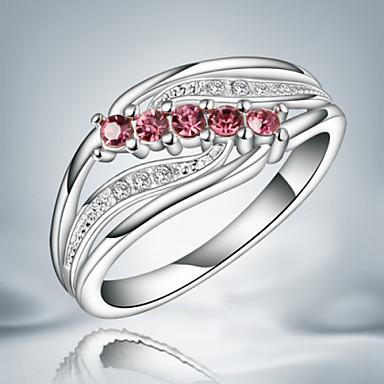 Feminino Anéis Grossos Moda Bijuterias Destaque bijuterias Prata de Lei Zircão Zircônia Cubica Jóias Para Festa