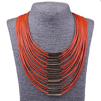 Γυναικεία Κολιέ Δήλωση Κολιέ σαν σαλιάρα Κοσμήματα Κράμα Μοντέρνα Κοσμήματα με στυλ Πεπαλαιωμένο Πορτοκαλί Μπεζ Κόκκινο Μπλε Φούξια