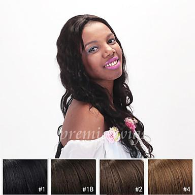 Ekte hår Helblonde Parykk Bølget 130% tetthet 100 % håndknyttet Afroamerikansk parykk Naturlig hårlinje Kort Medium Lang Dame