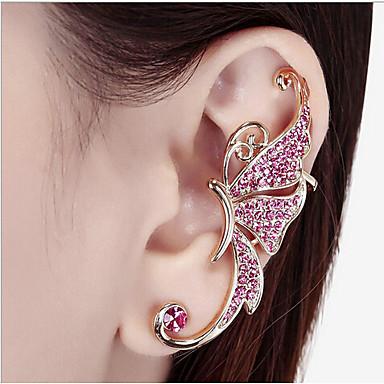 Χειροπέδες Ear Στρας Κράμα Μοντέρνα Λευκό Ροζ Κοσμήματα 2pcs