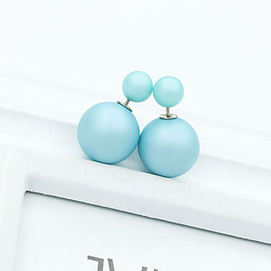 Women's Crystal Stud Earrings - 18K Gold Plated, Pearl, Imitation Pearl European, Fashion Pink / Light Blue / Light Green For / Imitation Diamond / Rhinestone / Austria Crystal