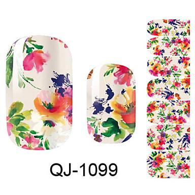 Blomst / Mote 3D Nail Stickers Smuk Daglig