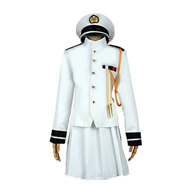 Zainspirowany przez Kantai Collection Yukio Kasamatsu Wideo Gra Kostiumy cosplay Garnitury cosplay Jendolity kolor Długi rękaw Płaszcz