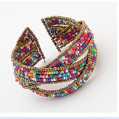 1pc Široke narukvice - Jedinstven dizajn Vintage Slatko Posao Ležerne prilike Boemski stil Otvoreno Moda Prilagodljivo S perlama Others