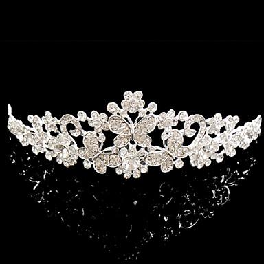 meirui 여성의 패션 빛나는 보석 상감 모조 다이아몬드 황실 왕관 머리띠