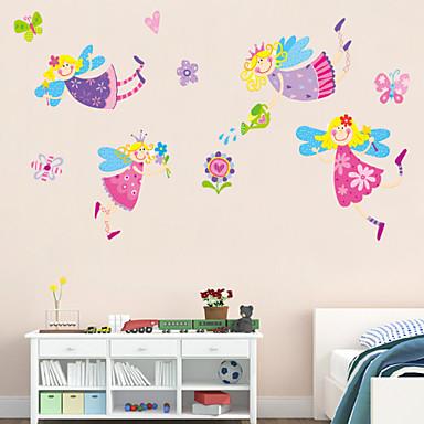 Tiere Menschen Romantik Blumen Cartoon Design Wand-Sticker Flugzeug-Wand Sticker Dekorative Wand Sticker, Vinyl Haus Dekoration Wandtattoo