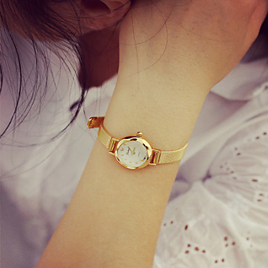 Women's Bracelet Watch Casual Watch PU Band Vintage / Fashion Gold