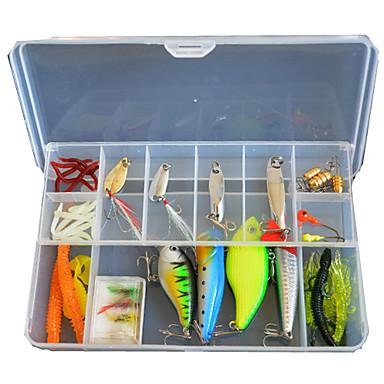 49 szt Lure pakiety Návnady Zestawy przynęt g/Uncja mm cal,Miękkiego tworzywa Twardy plastik Metal Fishing Lure
