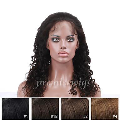 Echthaar Vollspitze Perücke Locken 130% Dichte 100 % von Hand geknüpft Afro-amerikanische Perücke Natürlicher Haaransatz Kurz Medium Lang