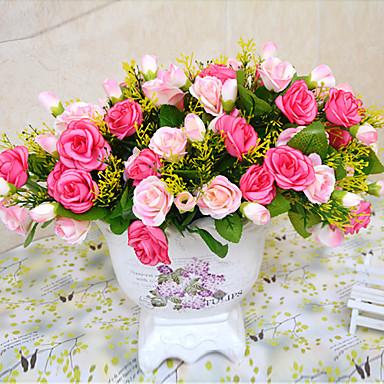 Κλαδί Πολυεστέρας / Πλαστικό Τριαντάφυλλα Λουλούδι για Τραπέζι Ψεύτικα λουλούδια 20 cm
