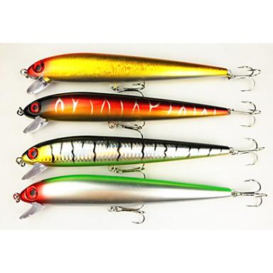 4 Stück kleiner Fisch Angelköder kleiner Fisch Fester Kunststoff Seefischerei Fischen im Süßwasser Spinnfischen