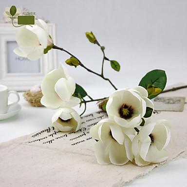 1 Ág Poliészter PU Orchideák Asztali virág Művirágok