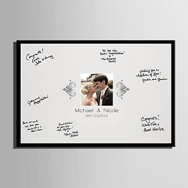 E-home® kişiselleştirilmiş imza tuval çerçeve bir öpücük (çerçeve dahil)
