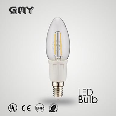 E12 LED лампы в форме свечи C35 8 светодиоды COB Декоративная Тёплый белый Холодный белый ≥380lm 2700-6500K AC 110-130V