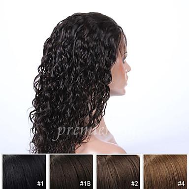 Premierwigs Ekte hår Helblonde Parykk Krøllet Parykk 130% Hair Tetthet Naturlig hårlinje Afroamerikansk parykk 100 % håndknyttet Dame Kort Medium Lengde Lang Blondeparykker med menneskehår