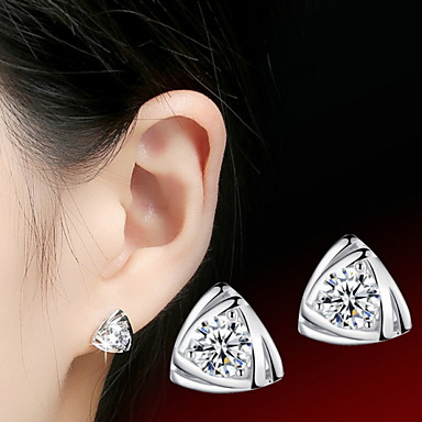 Women's Stud Earrings Love Sterling Silver Cubic Zirconia Jewelry