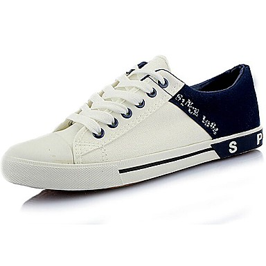 Men's Shoes Canvas Spring Fall Comfort Lace-up for Casual Outdoor White Black Brown