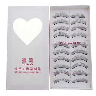Augenwimpern 10 pcs Trocken / Kombination / Ölig Verlängert / Gehobene Wimpern / Voluminisierung Auge Klassisch Alltag Bilden Kosmetikum