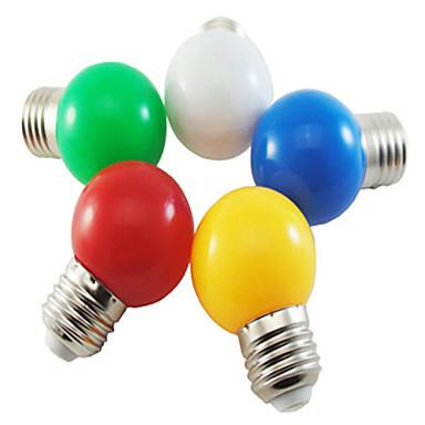 billige Elpærer-1pc 1 W LED-globepærer 80 lm E26 / E27 G45 8 LED perler SMD 2835 Fest Dekorativ Jul Bryllup Dekorasjon Hvit Rød Blå 220-240 V / 1 stk. / RoHs