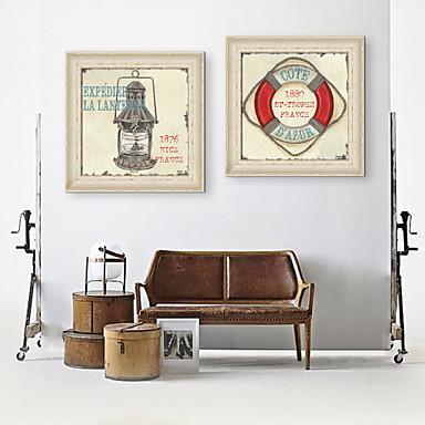 Oprawione płótno Zestaw w oprawie Martwa natura Postarzane Kaprys Wall Art, PVC (polichlorek winylu) Materiał z ramą Dekoracja domowa