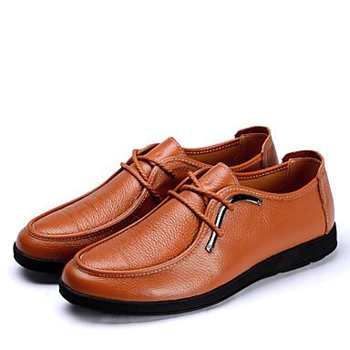 Erkek Ayakkabı Tüylü Bahar Yaz Sonbahar Kış Rahat Bağcıklı Uyumluluk Günlük Parti ve Gece Turuncu Kahverengi Mavi