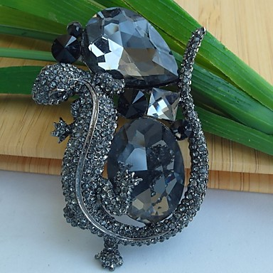 Women's Brooches Crystal Vintage Party Gemstone & Crystal Crystal Alloy Jewelry For Wedding Party Special Occasion Anniversary Birthday
