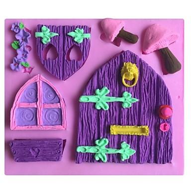 σπίτι μανιτάρι σχήμα τούρτα φοντάν μούχλα μούχλα σιλικόνης σοκολάτα, τα εργαλεία διακόσμησης bakeware